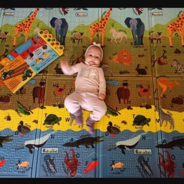 Igralna otroška podloga ABC ANIMALS